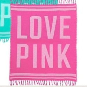 VS PINK Love Pink Throw/Beach Blanket